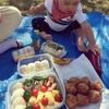 家族でピクニックの時間