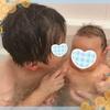 娘、生後1ヶ月。沐浴卒業🛀