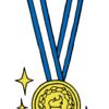 金メダルを描きました