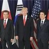 日米韓首脳会談、北への圧力強化で一致