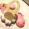 桜とディナー