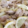 鶏肉とじゃがいもの塩レモン炒め