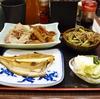 豊洲の「米花」でヤナギムシガレイ、ねぎ豚、牛ごぼう、せりおひたし。
