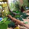100均DIY【直ぐにできる恐竜プレイテーブル】