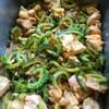 鶏肉とゴーヤ、しいたけのみそ炒め