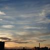 日没後の西の風景