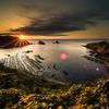 海岸の夕日夕景、LightroomとPhotoshopのレタッチ手順