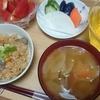 ひらたけの炊き込みご飯、豚汁(二日酔い)