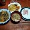 幸運な病のレシピ( 2304 )夜 :空芯菜の炒め(八宝菜風)、鯛の刺身(昨晩半額)