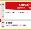 【ハピタス】三菱東京UFJ-JCBデビットが4,800pt(4,800円)にアップ! さらに最大1,500円もれなくプレゼントも♪
