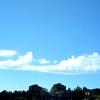 空に泳ぐクジラ雲を眺めながら