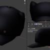 【モデリング】猫耳キャスケット(黒、赤)