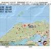 2016年10月21日 14時57分 鳥取県西部でM3.1の地震