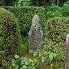 三室戸寺の浮舟の古跡碑。