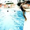 早速のプール遊び
