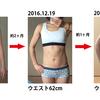ジョギングと簡単なウエスト運動だけで、約3ヶ月でウエスト-6.5cm。