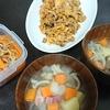 豚キム風、切り干しの煮物、ポトフ風スープ