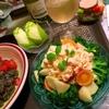 漬け物タルタルde彩り野菜と林檎のサラダ