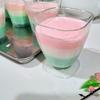 超簡単!ひな祭りのデザートに!三色ミルクゼリーの作り方。