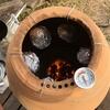 自作つぼ焼き芋でシルクスイートを焼いてみた!2