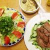 肉と野菜をもりもりもり。暑い夏の週末ごはん