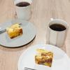アップルサンドケーキとホット珈琲