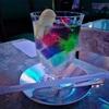[喫茶ソワレ]宝石の様なゼリーを青い灯りの空間食べる。異世界へタイムワープ!