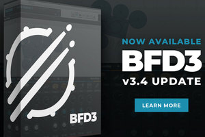 ドラム専用ソフト音源BFDがリリース元変更。最新版でエフェクトとエンベロープ・シェイパーが追加