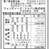 ウェンディーズ・ジャパン株式会社 第7期決算公告