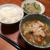 春雨炒めナンプラーと豚汁の夕飯