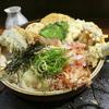 天ぷらのボリュームがすごい!大地のうどんの野菜天ぶっかけ@福岡市博多区博多駅前