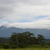 今日の鳥海山と雲の景色