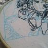 工程#9残るはダイヤさんのみ。お覚悟><♪***GALAXY HidE and SeeK/AZALEAを黒糸刺繍で仕上げる**サンシャイン!!-ジャケ刺繍