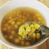 キヌアとトウモロコシで 穀穀スープ