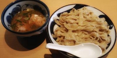 『更新通知』再々訪の「中華そば青葉 東大和店」で今度は極太麺が印象的なつけめん780円を堪能する