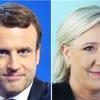 仏大統領選、マクロン氏・ルペン氏で決選投票