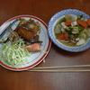 幸運な病のレシピ( 328 )朝:鳥、カボチャ、唐揚げ、ロースアスパラ巻きフライ、煮しめ
