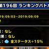 level.1650【スライム系15%UP】第196回闘技場ランキングバトル初日