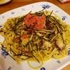 明太子とタコと高菜のパスタ