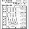 株式会社アニメイト 第31期決算公告