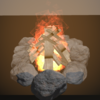 焚き火のアニメーション作ってみた!【Blender→Unity】 #30