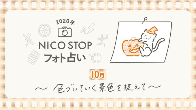 10月のNICO STOPフォト占い|色づいていく景色を捉えて