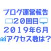 2019年6月のブログ運営報告「20回目」アクセスは何PVあったか、何記事書いたか? とうとう5万PV切りました(´;ω;`)