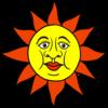 かわいい太陽 のイラスト