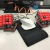 キーボード自作体験 Iris Keyboard プレート作成同僚編