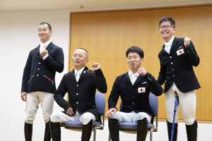【東京パラリンピック】馬術=元JRA騎手の高嶋ら東京パラ代表4選手が抱負