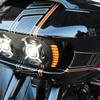 パーツ:Paul Yafee's Bagger Nation「Tracer Switchback LED Turn Signals for Crossfire Headlights」