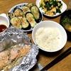 野菜たっぷりキムチ鍋・鮭のホイル焼き