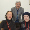 大泉淵さん(作家・大泉黒石の四女)と古谷耀子さん(大泉黒石の孫)が本日、日芸図書館長室を訪れた。