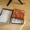 kr256 DZET 財布 レディース 二つ折り財布 牛革 レザー 小銭入れ カード入れ ウォレット オイル仕上げ